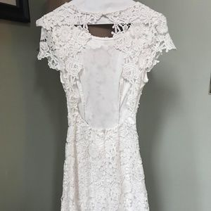 7c960662207e Lulu's Dresses | Romance Language White Backless Lace Dress | Poshmark